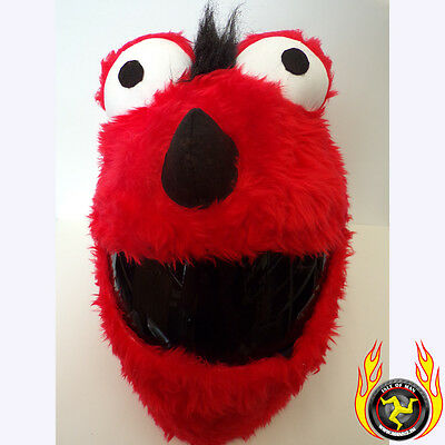 Red Mohican Funny Heeds Crazy Crash Helmet Cover