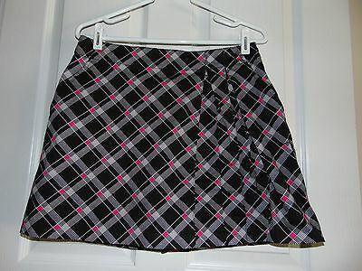 Lady Hagen women ladies golf skorts size 8 black pink skirt shorts athletic