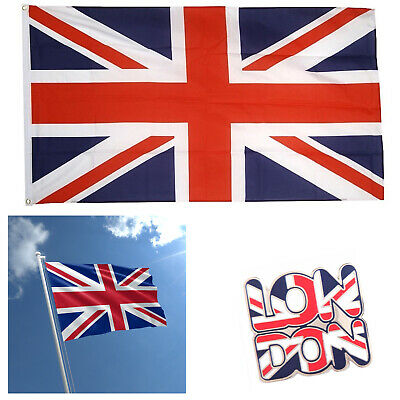 3x5FT Large Union Jack Flag GB Great British Sport Queens Jubilee Decor Flags