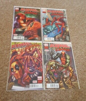 Deadpool Vs Carnage #1-4, Marvel Comics