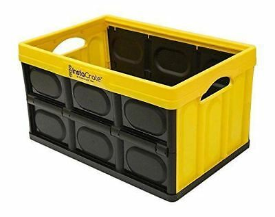 InstaCrate 12 Gallon Instant Storage Greenmade USA Folds Flat Bin   Yellow