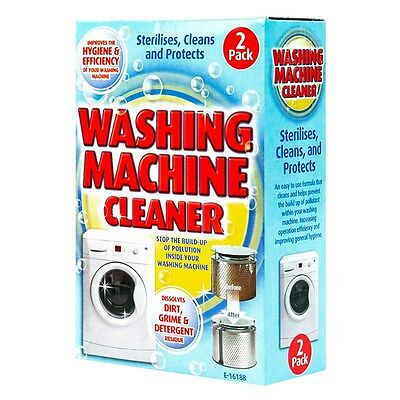 2 Pack Washing Machine Cleaner Powder Removes Grime Dirt Sterilise/ Protects