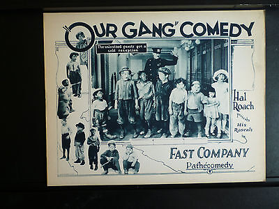 1924 Our Gang Lobby Card In Exc.- Cond. - Rare Silent Early Little Rascals Roach