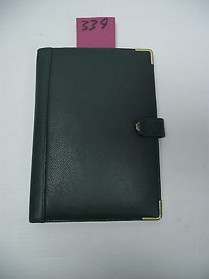A5 Green Leather  folder  (style 339)