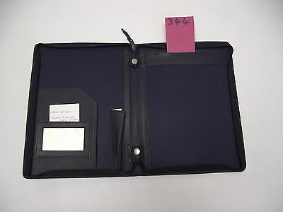 A5 Blue Leather folder  (style 344)
