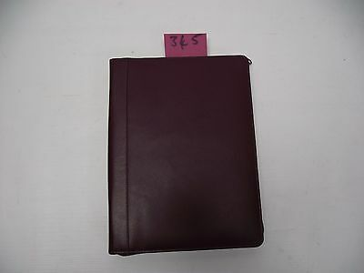 A5 purple Leather folder  (style 345)