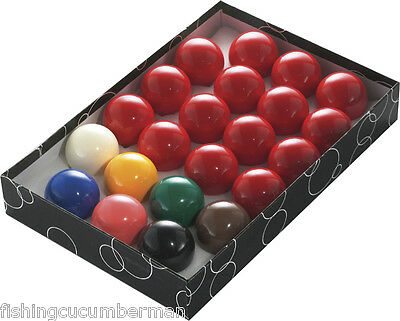 "Set of 22 Snooker Balls Full Size 2 1/16"" Boxed New"