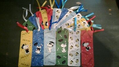 snoopy graduation book marks lot of 20