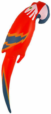 Inflatable Blow Up Parrot Fancy Dress Party Toys 47cm Pirate Hawaiian Accessory
