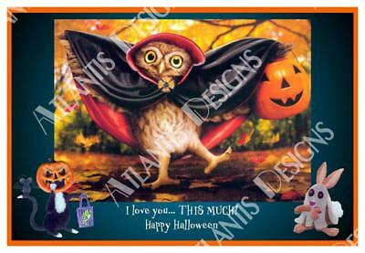 Halloween Love you this Much 2 x 3 Fridge Magnet