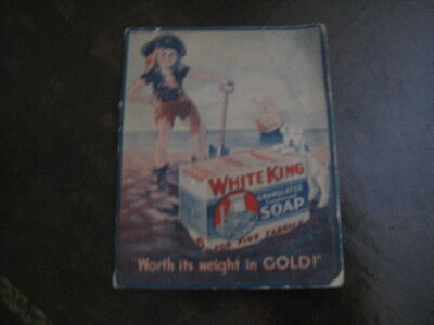 Antique White King Soap Advertising Sewing Needle Case
