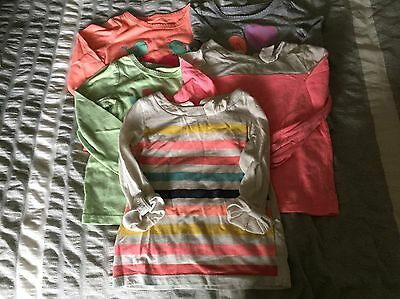 Circo Cherokee Toddler Girls Tee Shirts Tops 2T Lot Of 5