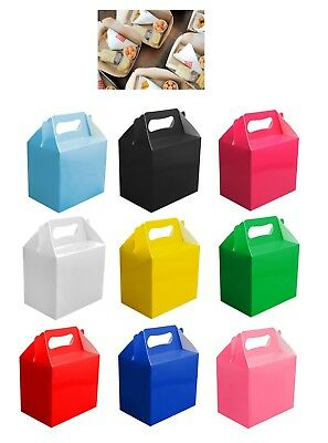 10 Childrens Kids Party Lunch Boxes Colour Birthday Wedding Meal Food Loot Bag