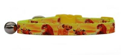 "YELLOW EXCLUSIVE TO US    ""THE LION KING""  safety kitten cat collar  3 sizes"