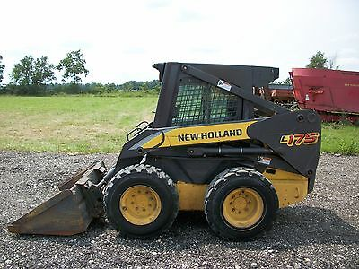 2007 New Holland L175 skid steer, Cab/Heat, Pilot Controls, 2 speed, 1,086 hours