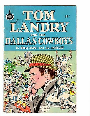 TOM LANDRY and the DALLAS COWBOYS 1973 comic VG
