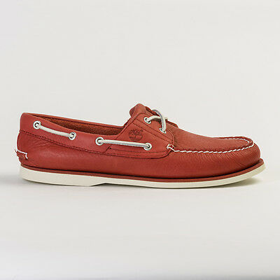 Timberland A1Bik Men's Iconic 2-Eye Classic Red Boat Shoes All Sizes