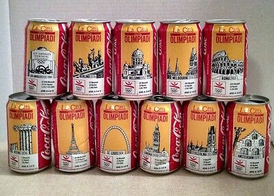 Coca-Cola 1992 Barcelona Olympics featured on 11 Opened Coke Cans From Italy