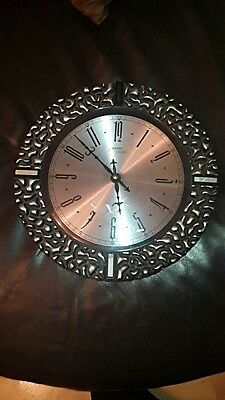 Vintage Brutalist Retro Atlanta Electric Heavy Metal Wall Clock - Read Listing