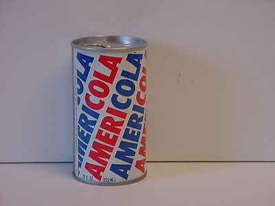 Vintage Americola Straight Steel Pull Tab Bottom Opened Soda Can
