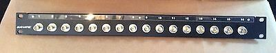Canare 16 port BNC Patch Panel 1U 1RU 161U-BJR excellent used as fixed position
