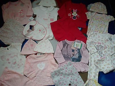 Amazing New 46 Bundle Outfits Winnie Minnie Bambi Baby Girl Clothes 0/3 Mths Nre