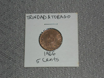 1966 Trinidad and Tobago 5 cent coin - five cents