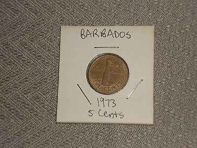 1973 Barbados 5 cent coin - five cents