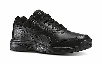 Reebok Men Work N Cushion 2.0 Black Shoes Oil Slip Resistant Memory Foam V70621