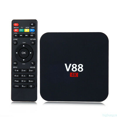 V88 4K Smart Android6.0 TV Box RK3229 Quad Core Media Player Lot Acc