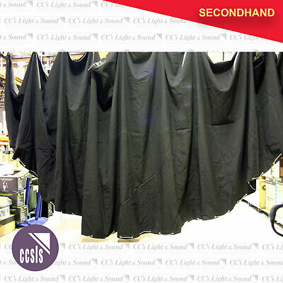 11M x 3.4M Black Converse Semi-Circle Curtain - Flat