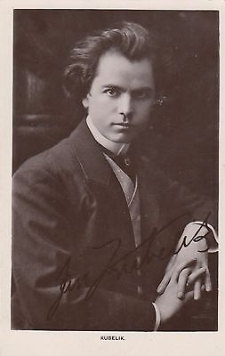 Postcard Kubelik with LAXETTES Bowen & Co Melbourne advertising back signed