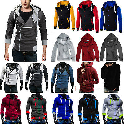 Winter Men's Hoodie Warm Hooded Sweatshirt Coat Jacket Outwear Sweater Slim Tops