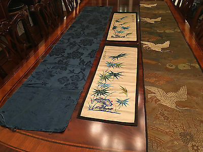 A Group of Four Chinese Textile Panels.