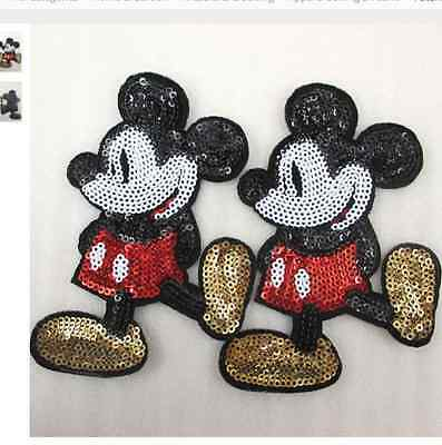 Mickey Mouse Sequin patch  90mm x 57mm ( 2 patch)