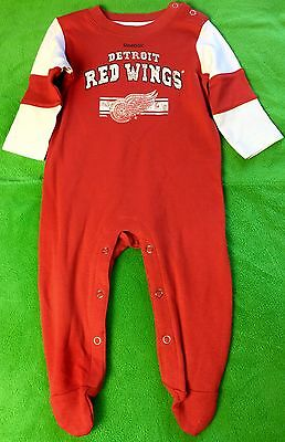 Detroit Red Wings Baby Cotton Team Believer Sleeper (FREE SHIPPING) 3-6 months