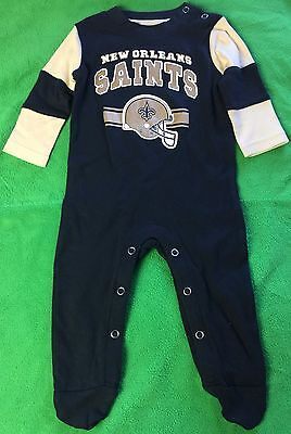 New Orleans Saints Baby Cotton Team Believer Sleeper (FREE SHIPPING) 3-6 months