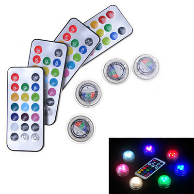 New Multi-color Charm Change Color Round Waterproof Party LED Candle Light Lamp@