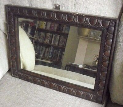 Oblong Victorian Decorated Wall Mirror (2)