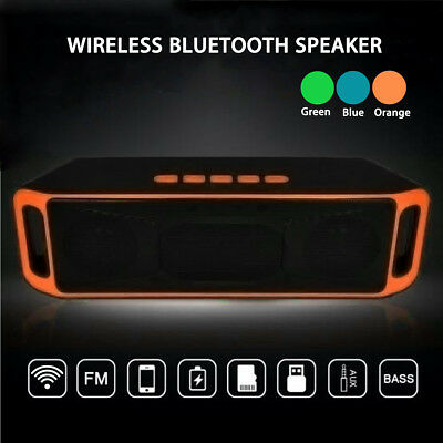 Portátil Inalámbrico Mini Altavoz bluetooth Super Bass Estéreo USB AUX FM MP3 TF