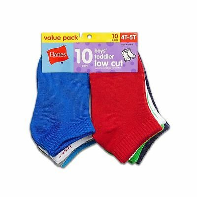 Hanes Boys' Toddler Low Cut 10-Pack NWT 28/10