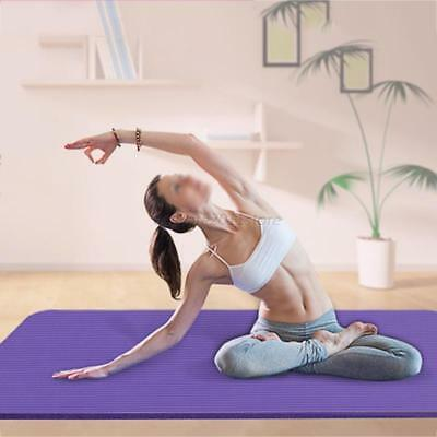 Yoga Mat Thick Exercise Fitness Physio Pilates Mats Non Slip Carrier 173*60*0.4