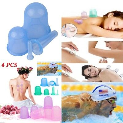 4X New Silicone Massage Vacuum Body and Facial Cup Anti Cellulite Cupping Beauty
