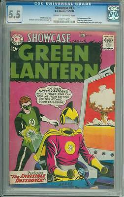 Showcase # 23  Second appearance SA Green Lantern !  CGC 5.5  scarce book!