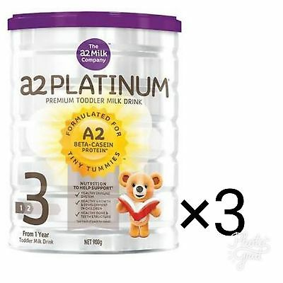 Brand New A2 Platinum Premium Stage 3 Toddler Formula Milk 900g Purple Stock x 3