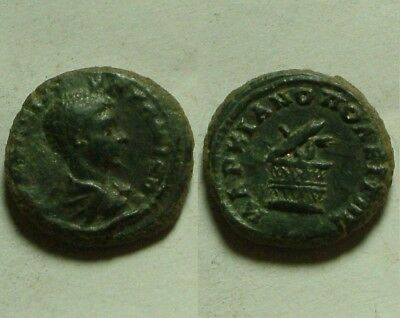 Lot OF 2 original Ancient Roman Bronze Coins Constantine I & provincial issue