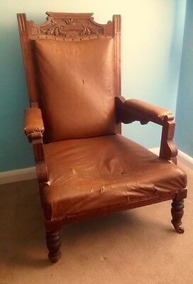 Antique Armchair Edwardian/Victorian everything original needs some attention.
