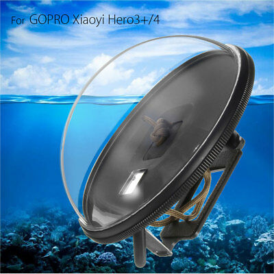Diving Waterproof Camera Lens Dome Port Cover Shell For GoPro Xiaoyi Hero3+/4