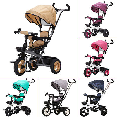 3-in-1 Tricycle Ride-On Trike Bike Bicycle Canopy Kids Toys Gift Sport Outdoor