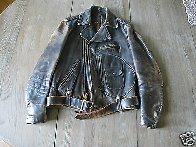 Vintage BUCO J-24 Steerhide Leather Jacket Biker size 38
